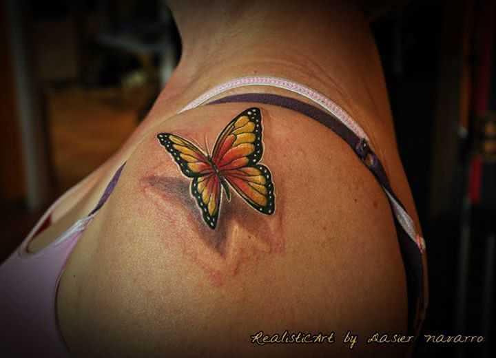 3D Schmetterling Schulter