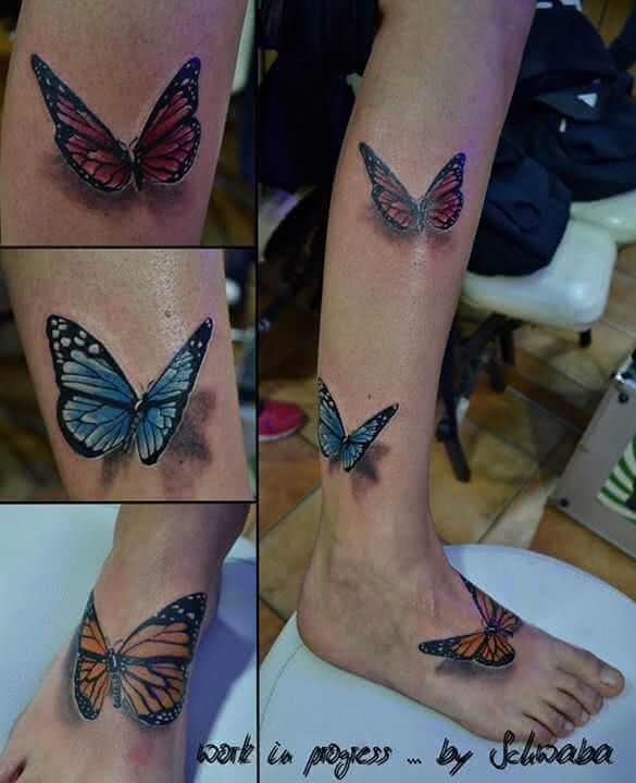 3D Schmetterlinge