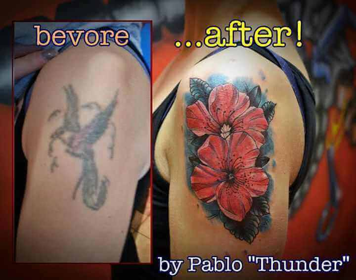 Arm Tattoo Cover up Blume