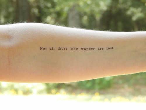 Arm Tattoo Schriftzug