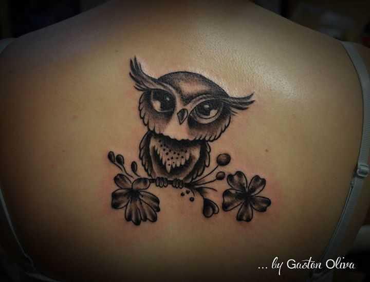 Tattoo Comic Tattoo Eule
