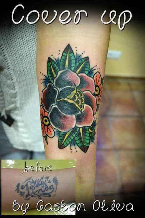 Cover up Blume Arm