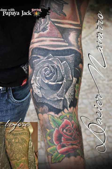 Cover up Tattoo Rose