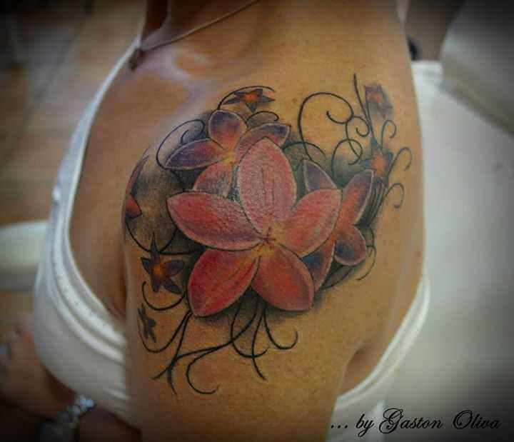 Schulter Tattoo Orchidee