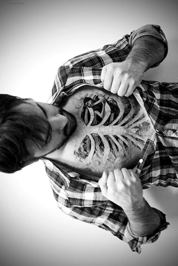 3D Knochen Oberkörper