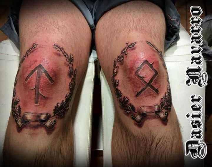 3D Runen auf Knie