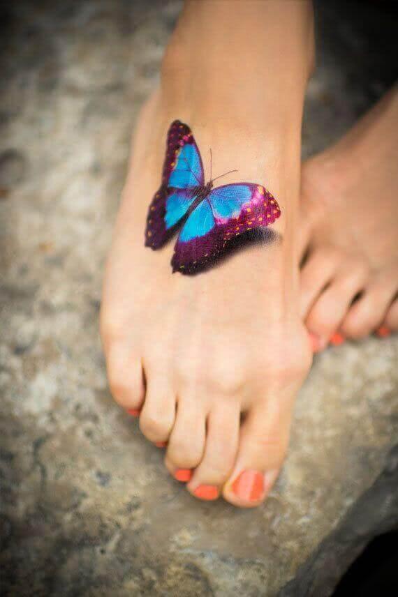 3D Schmetterling farbig