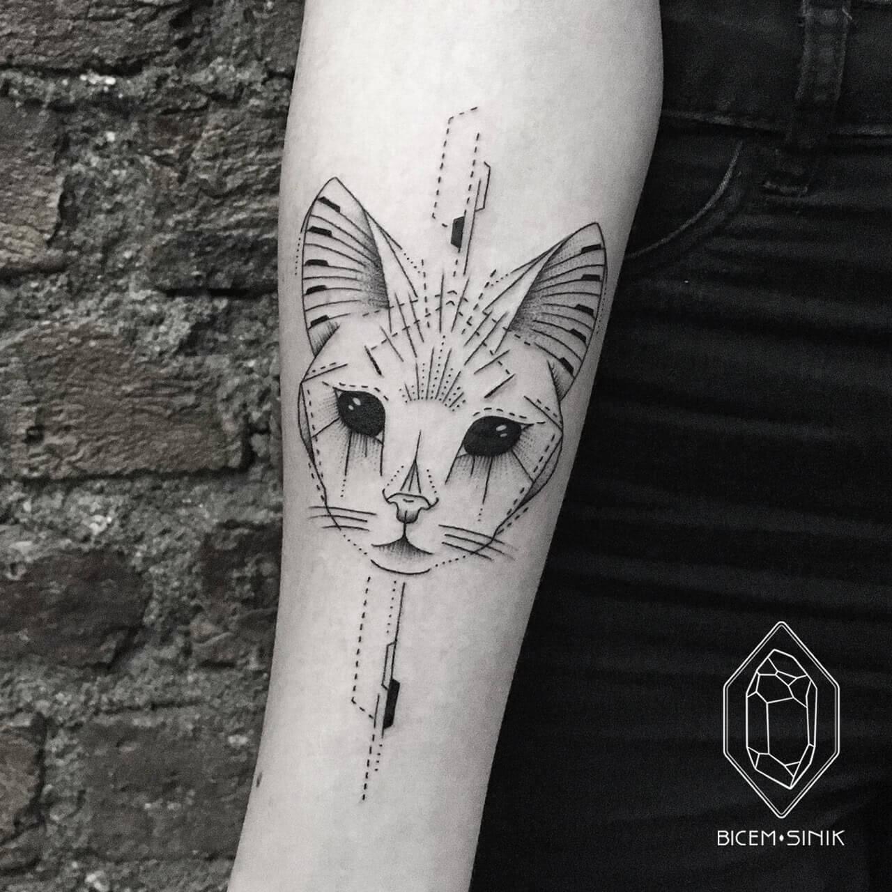 Abstrakte Katze
