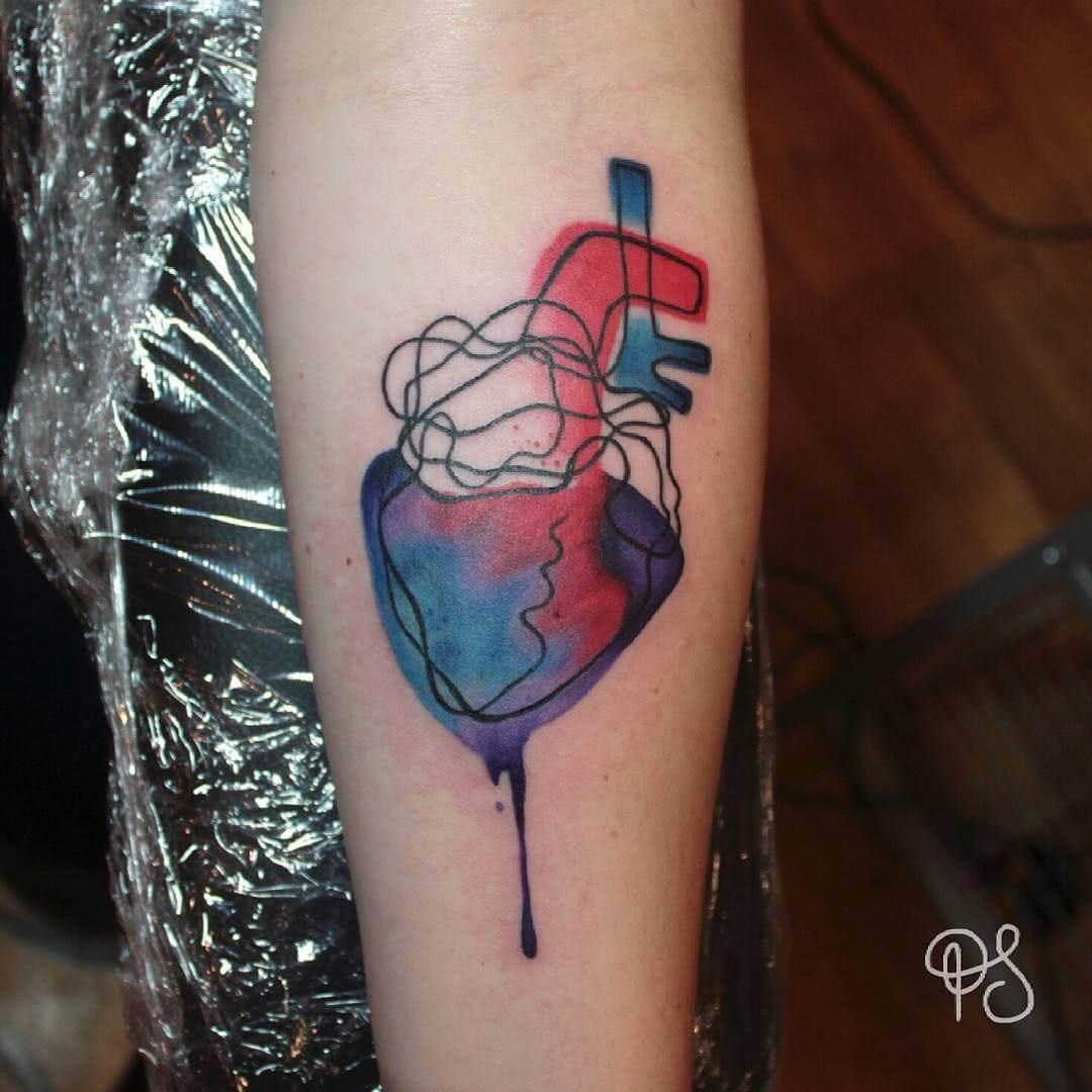 Abstraktes anatomisches Herz