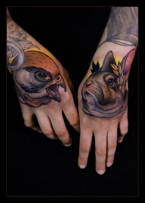 Adler und Hasen Kopf