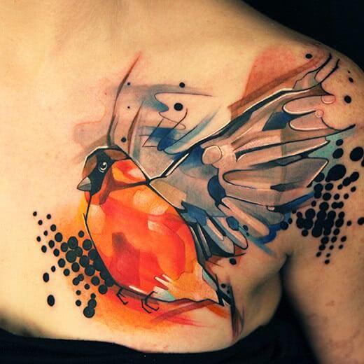 Aquarell Geometric Vogel