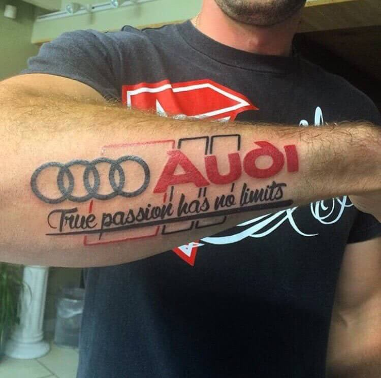 Tattoo Audi RS Logo