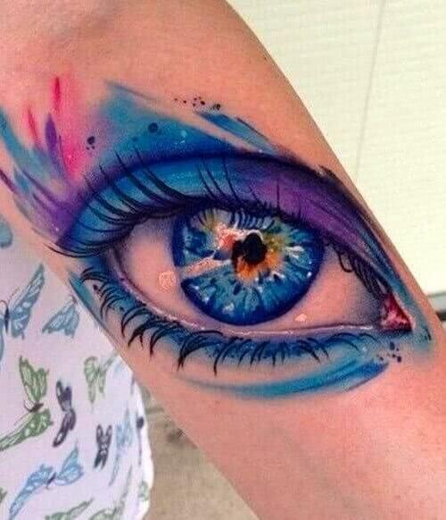 Auge Aquarell