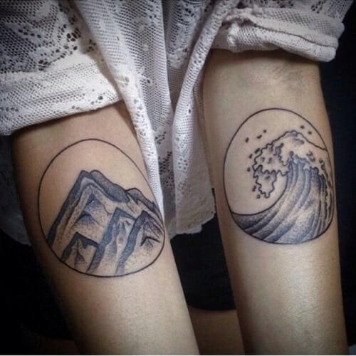 Berge und Wasser Wellen