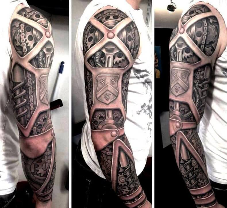 Biomechanik auf dem komplette Arm