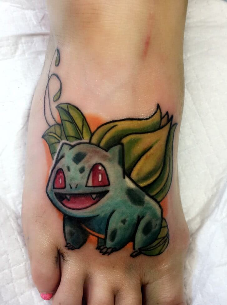 Bisasam Pokemon Tattoo