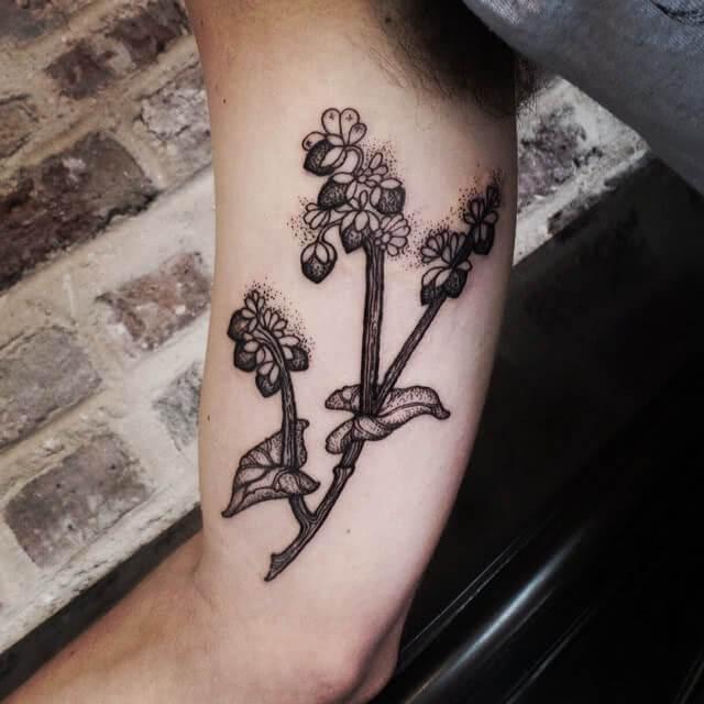 Tattoo Black and White Flower