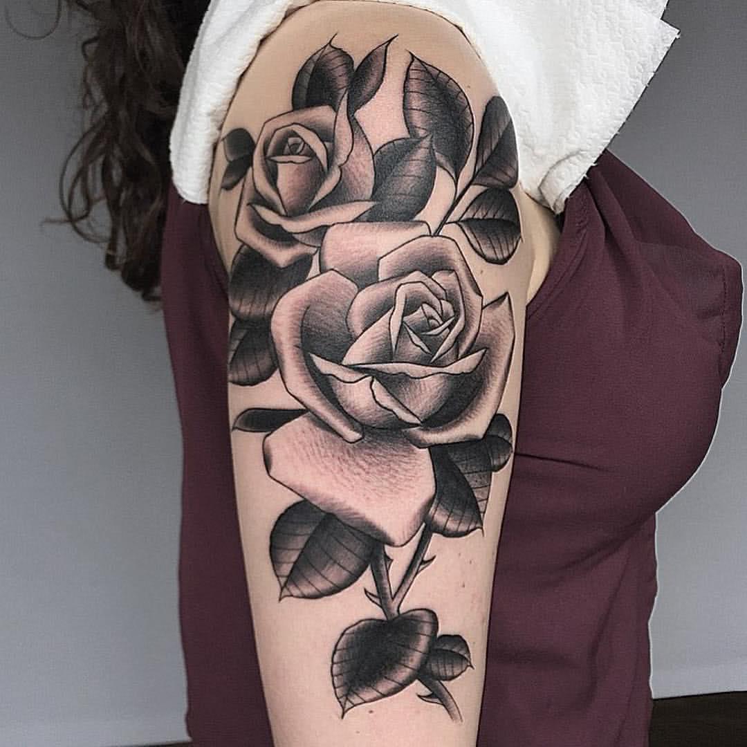 Blackwork Rosen