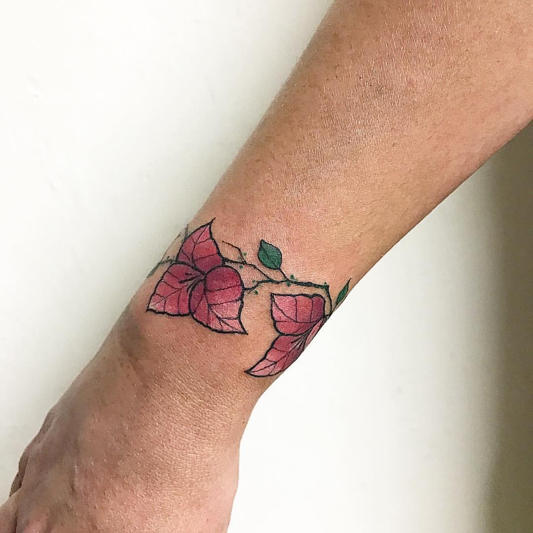 Blumen als Armreif