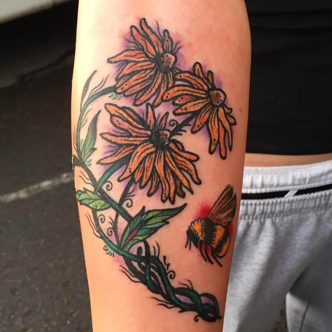 Blumen mit Hummel