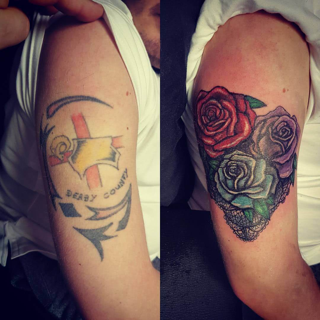 Tattoo Cover Up drei Rosen