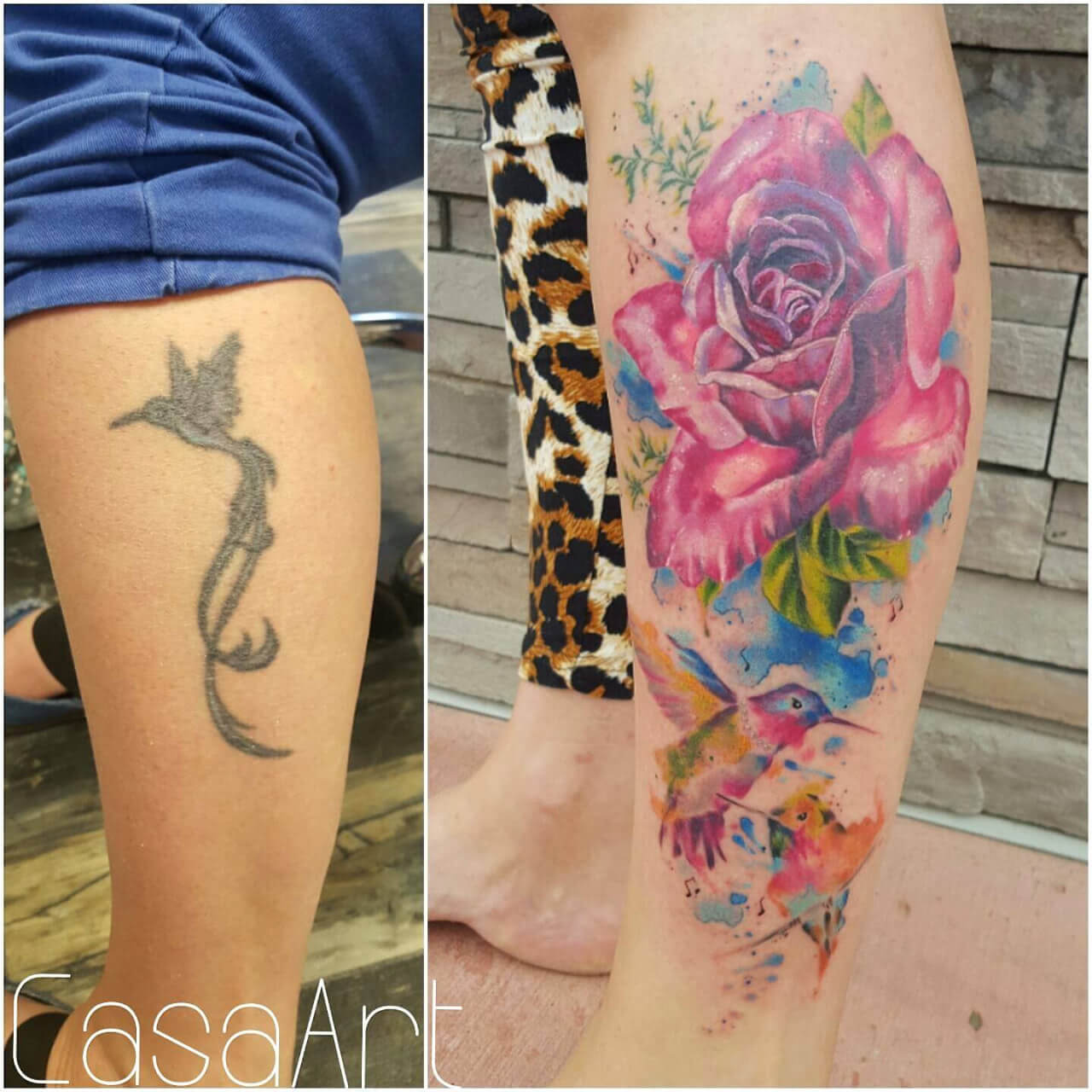 Cover Up mit Aquarell Blume