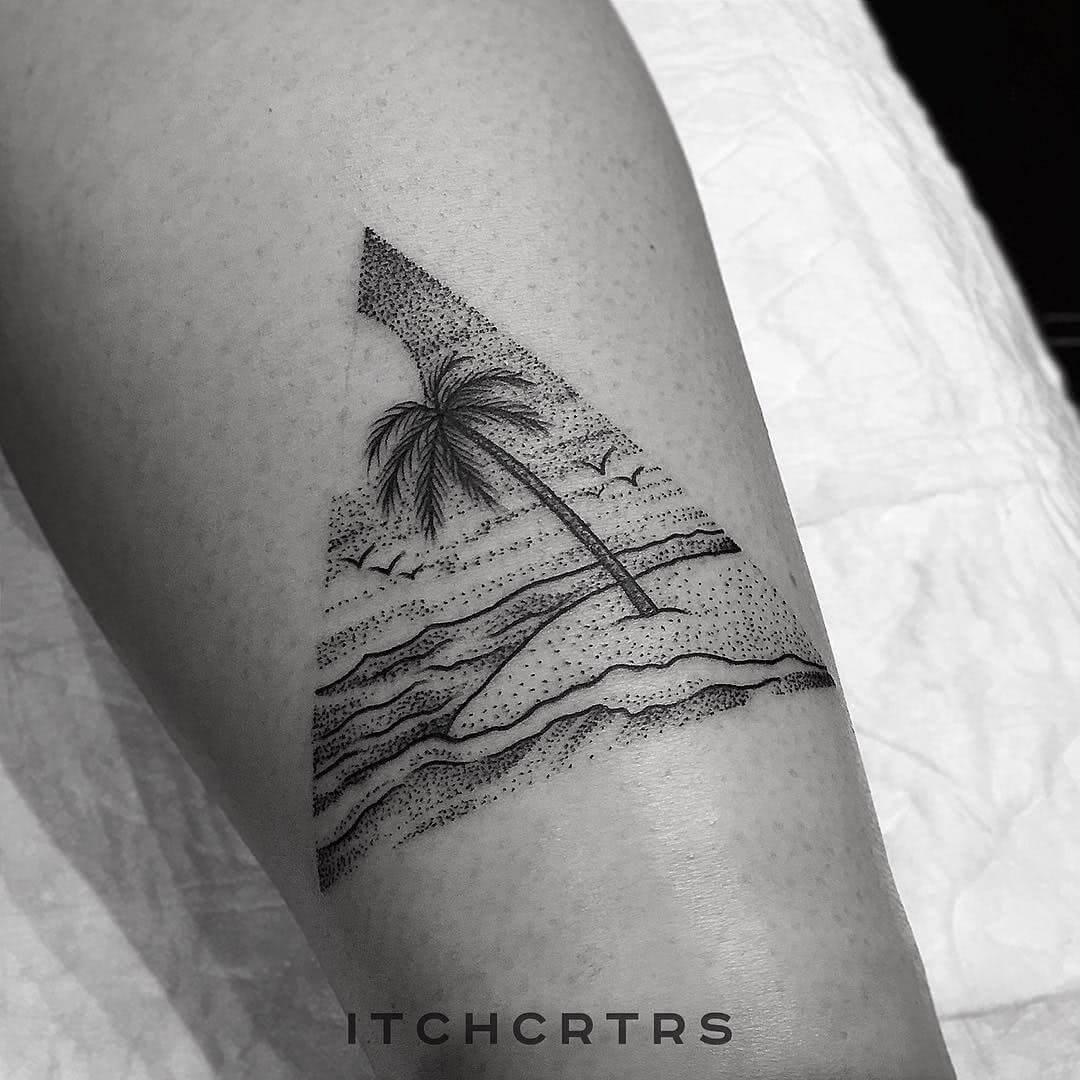 Dotwork und Lineart Beach