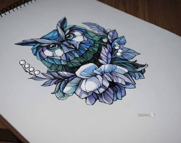 Eule gemoetrisch geometric Owl