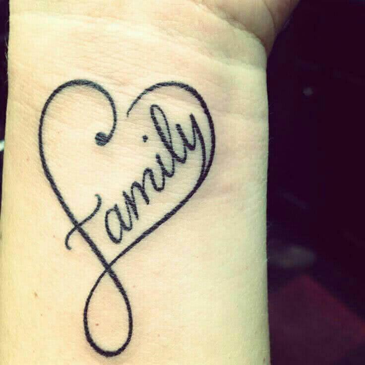 Familientattoo Family Herz