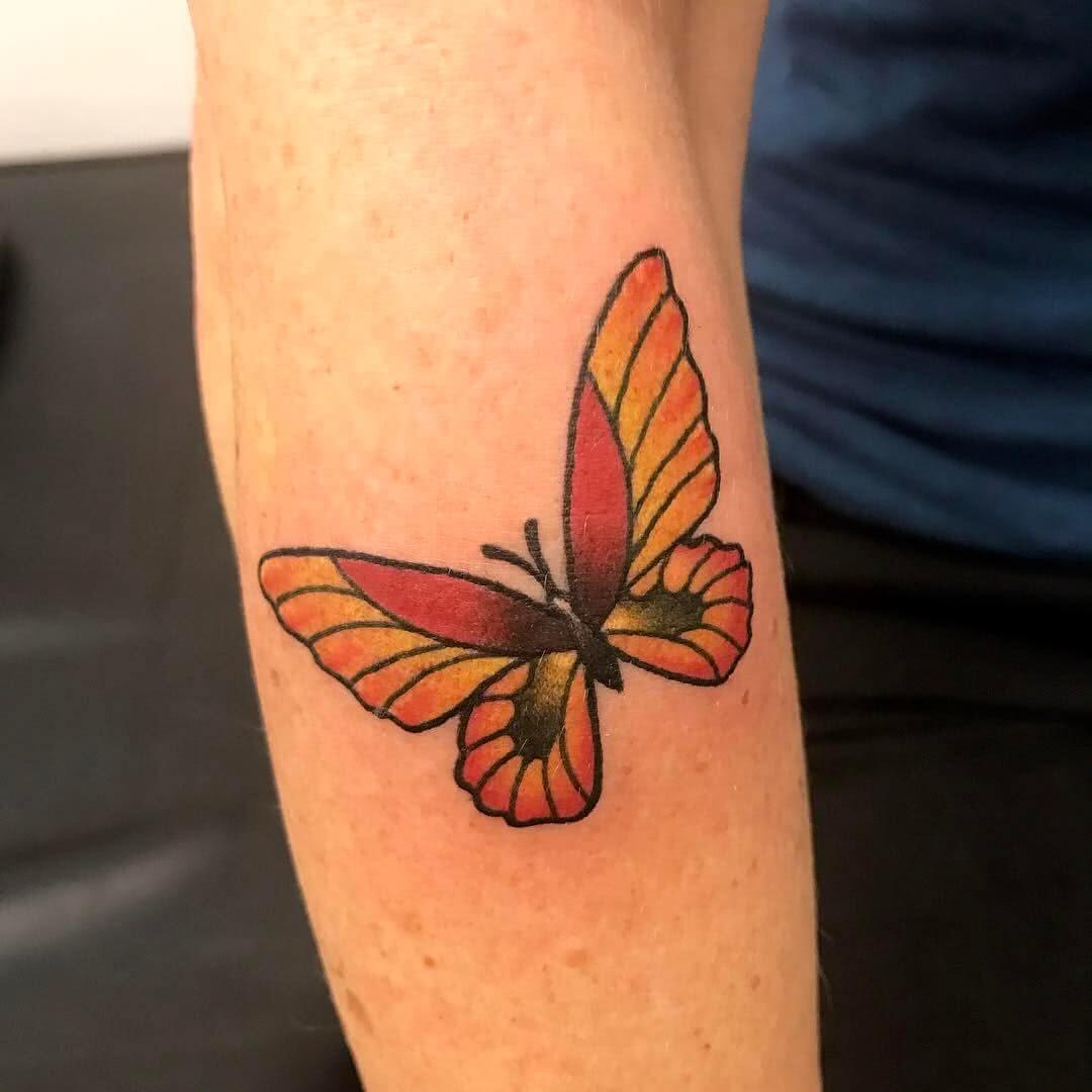 farbiger Schmetterling