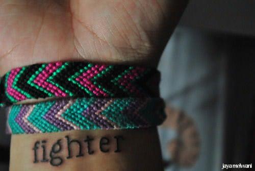 fighter auf dem Handgelenk