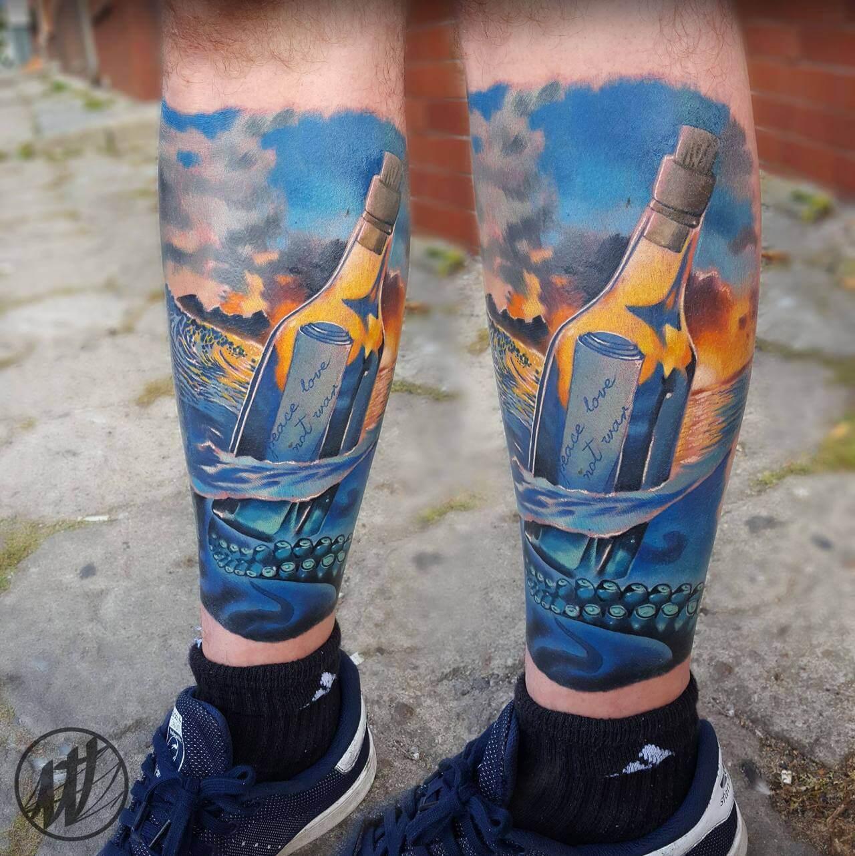Tattoo Flaschenpost