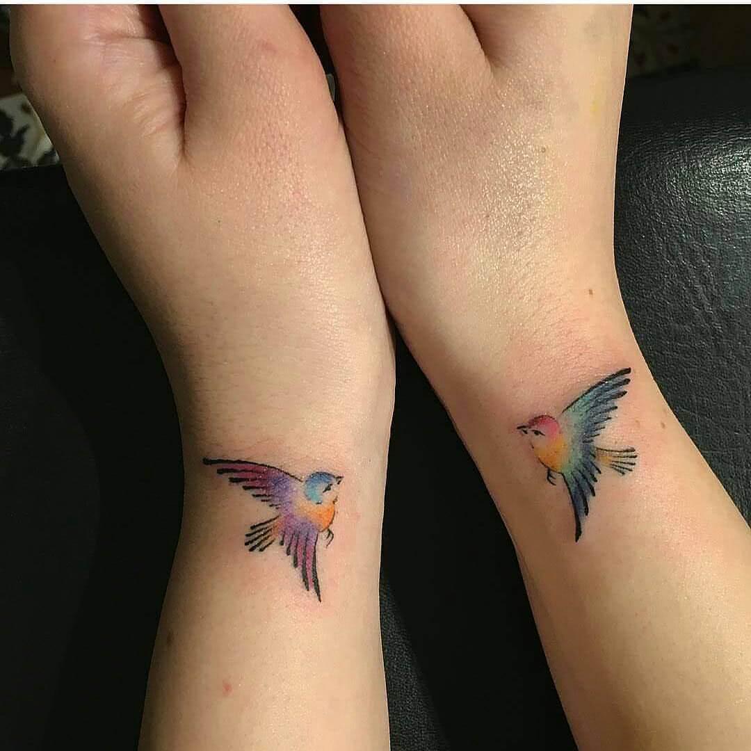 Freundschaft Tattoo Voegel