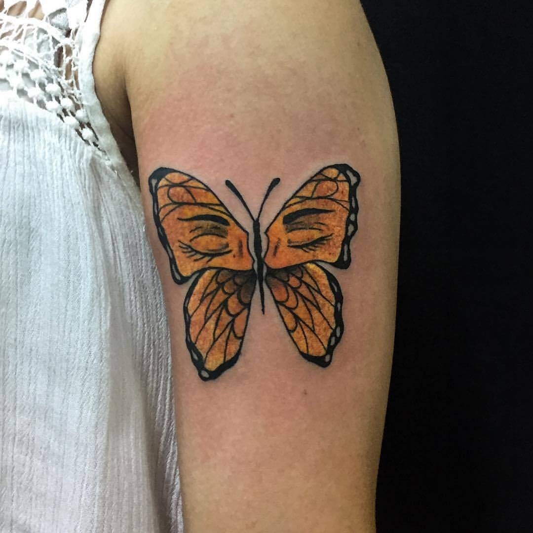 Tattoo Gelber Schmetterling