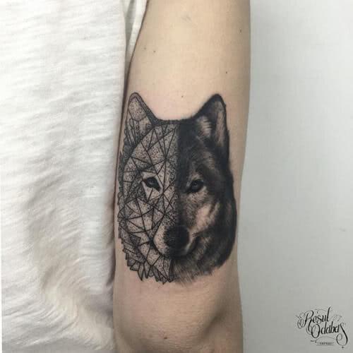 Geometrischer Wolf Wolfskop