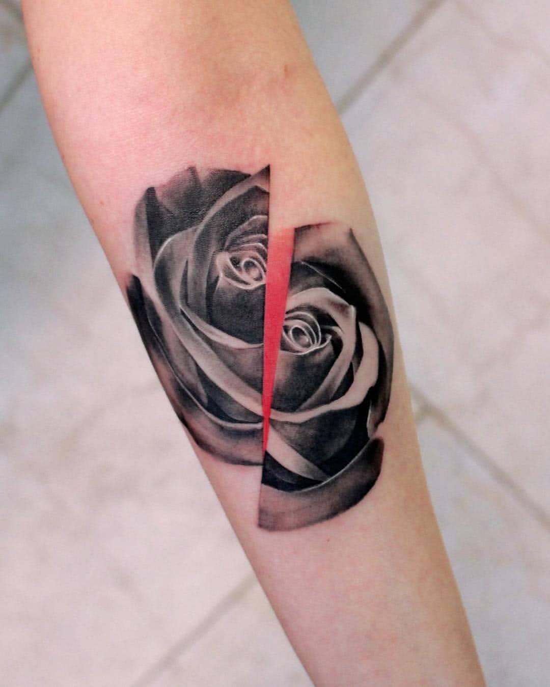 Geteilte Rose
