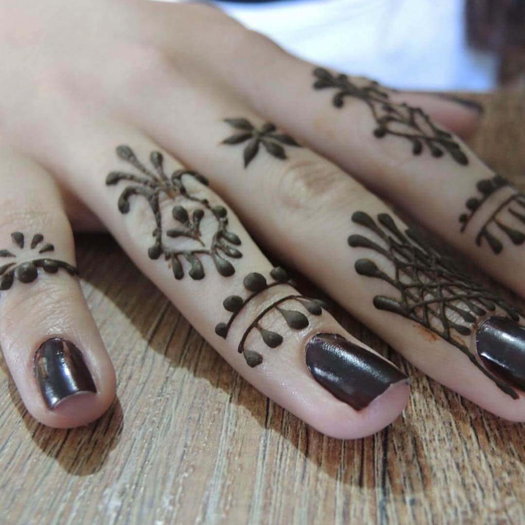 Henna am Finger