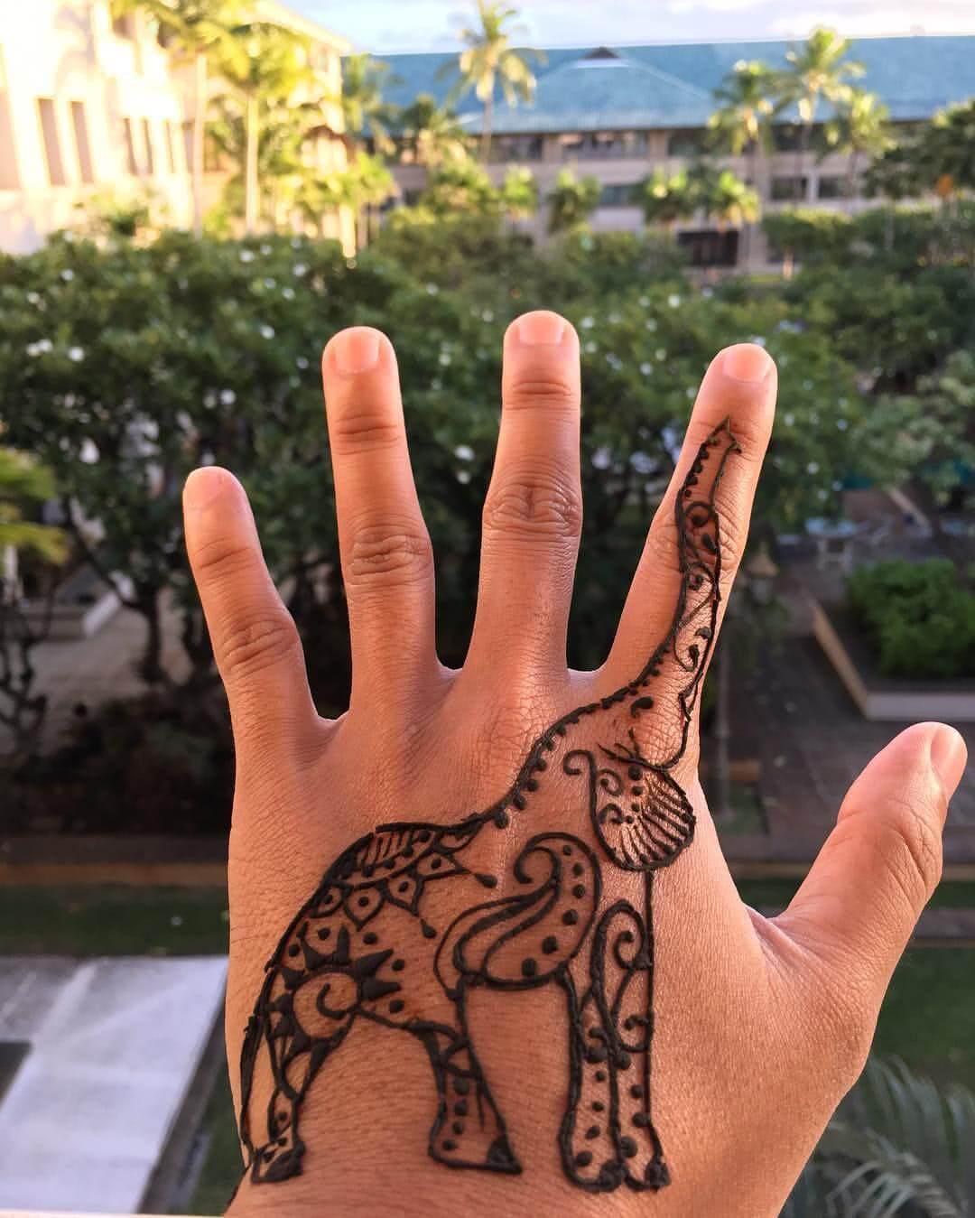 Tattoo Henna Elefant