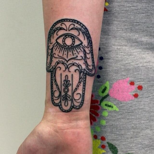 Henna Hand der Fatima