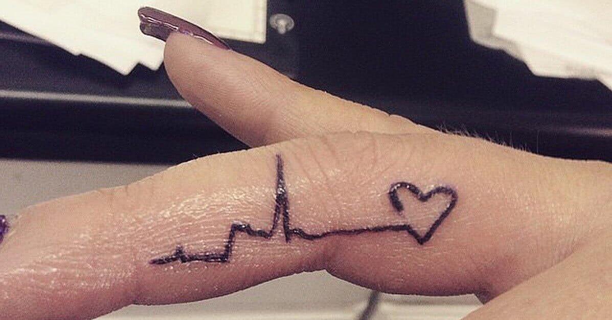 Herz mit Frequenz Herzschlag