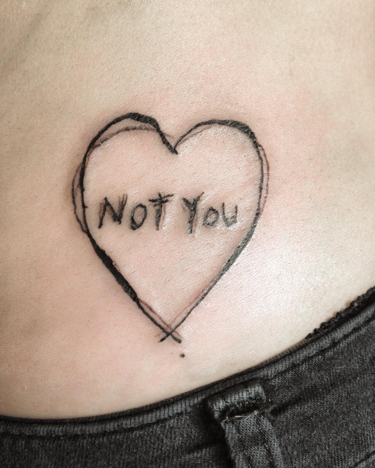 Tattoo Herz Not You