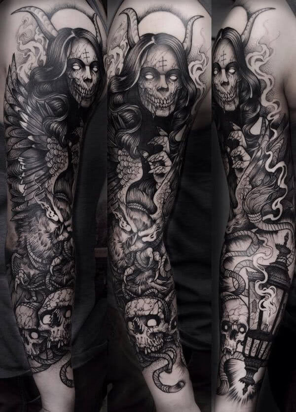 Horror Sleeve kompletter Arm