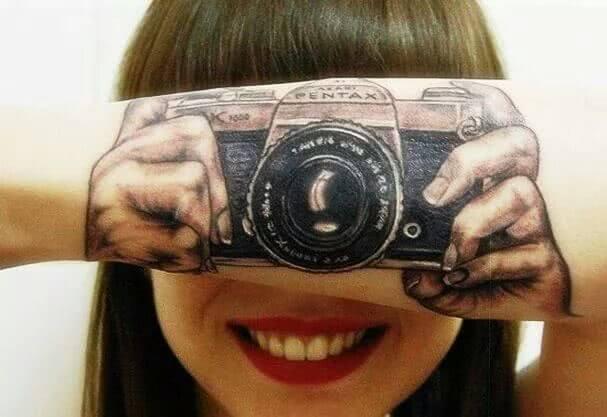 Kamera auf dem Arm
