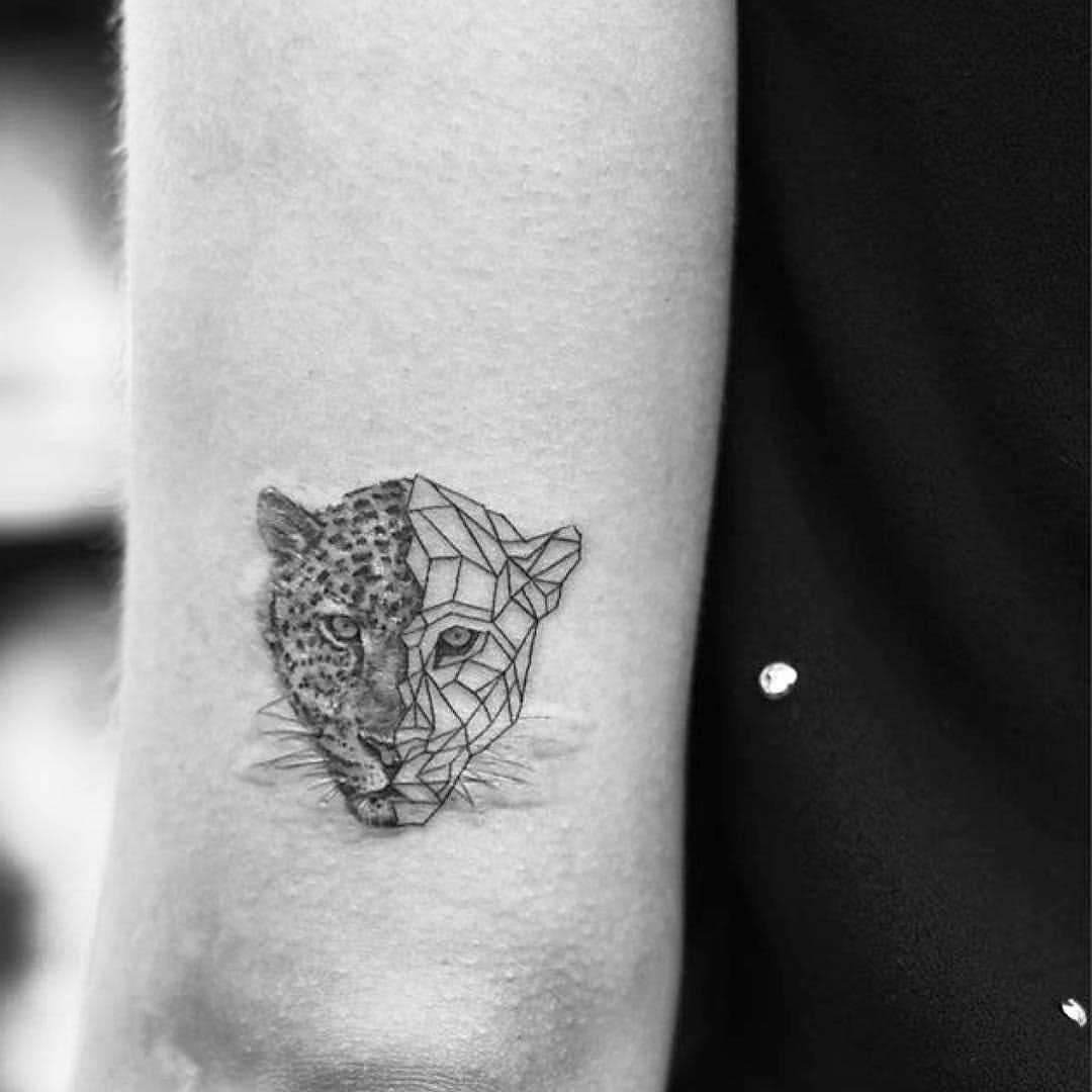 Leopard Kopf Gemoetrisch