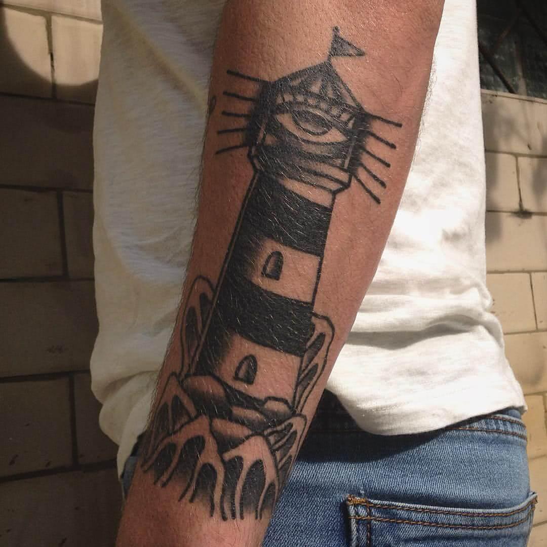 Leuchtturm mit Auge