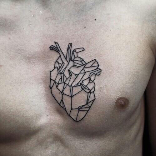 Lineart geometric Herz