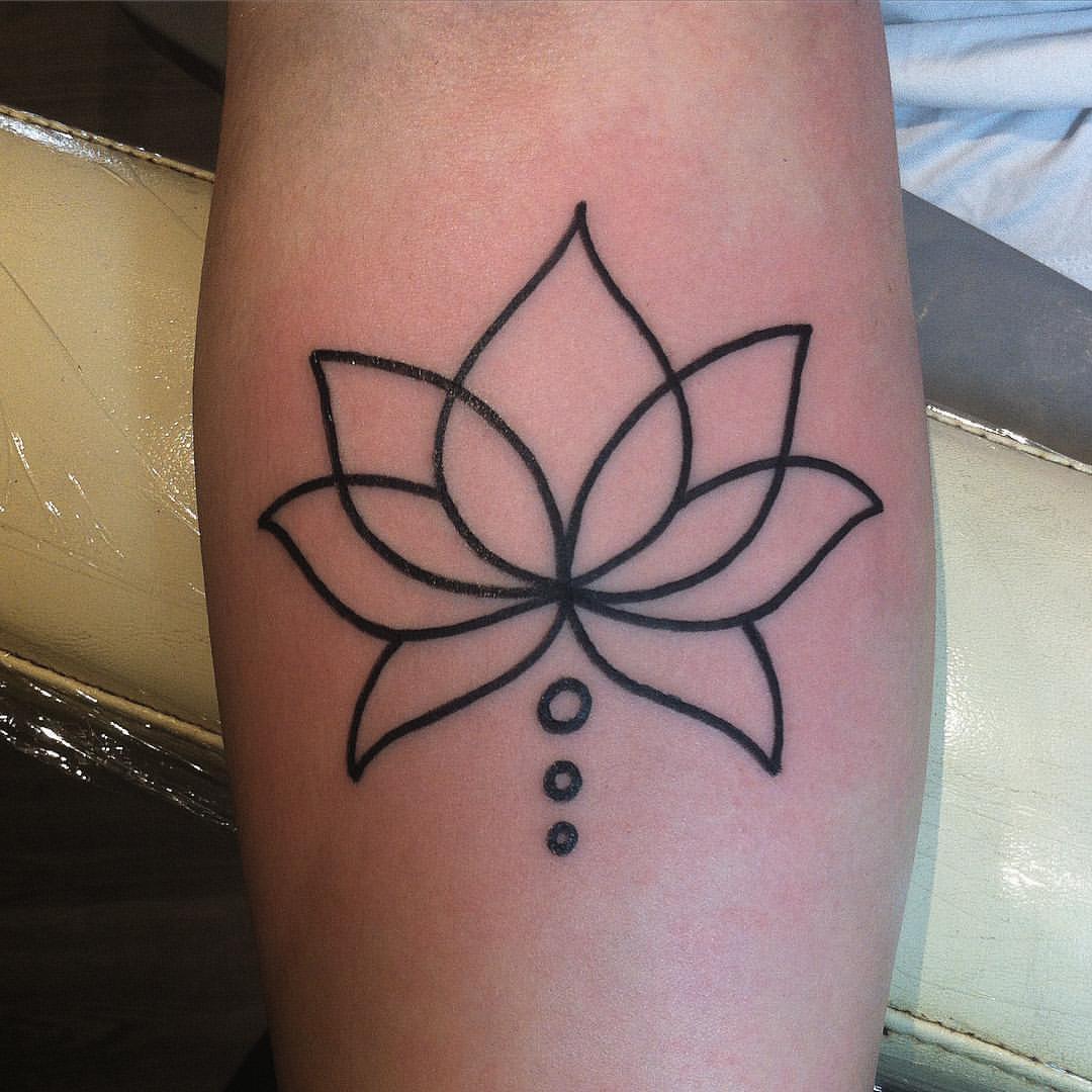 Linework einer Lotus Blume