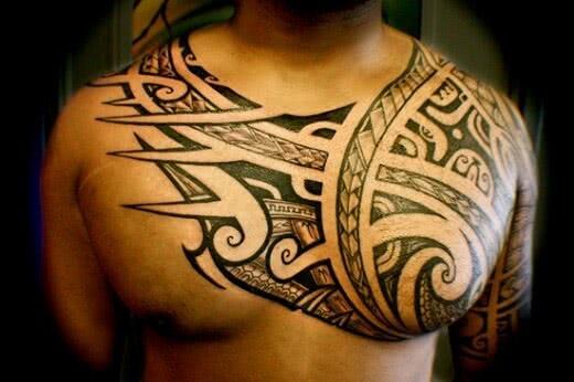 Maori Tribal Brust