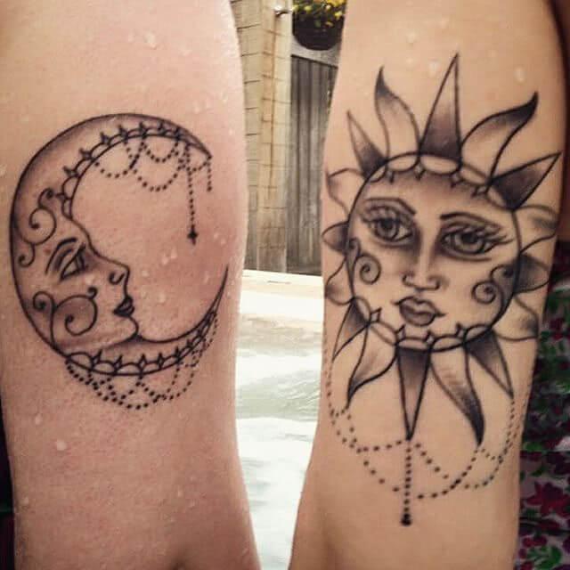 Mond tattoo sonne Sonne mond