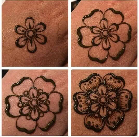 Henna Tattoo Flower Template Mehndi Henna 15